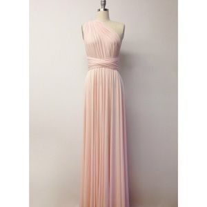 Blush Pink LONG Floor Length Infinity Dress